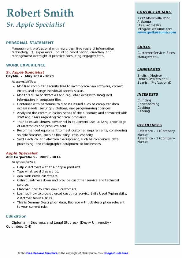 apple specialist resume samples qwikresume genius example pdf manual testing sample for Resume Apple Genius Resume Example