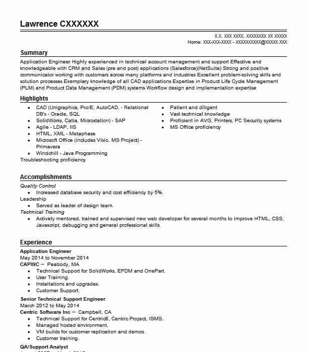 application engineer resume example technical resumes livecareer mechanical stackoverflow Resume Mechanical Application Engineer Resume