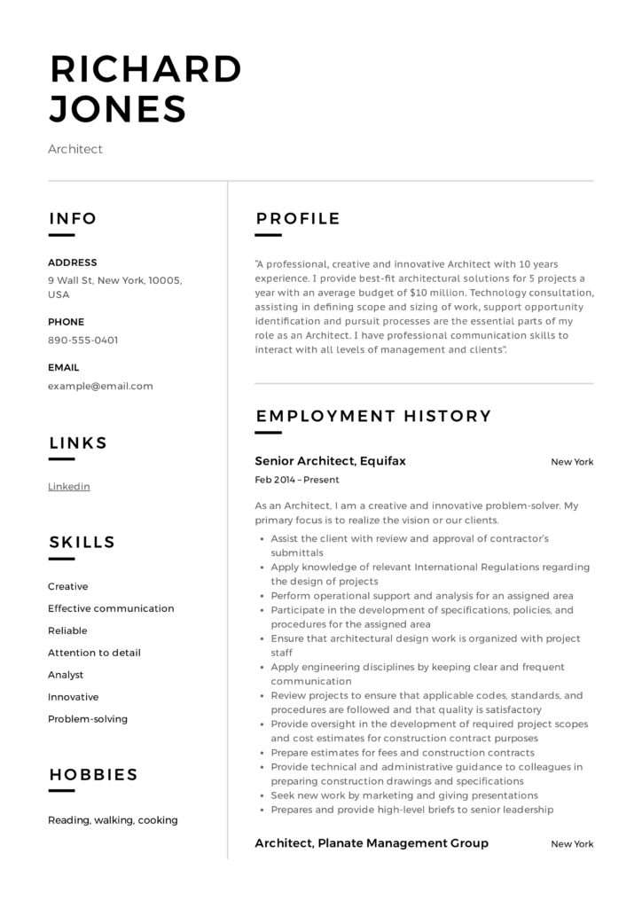 architect resume writing guide samples pdf word architecture examples sample richard Resume Architecture Resume Examples