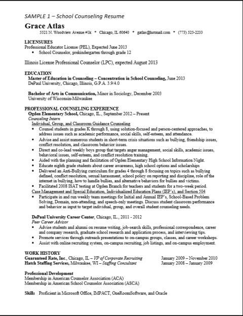 asca school counselor resume sample give ideas and provide as references your own ther Resume School Counselor Resume Examples