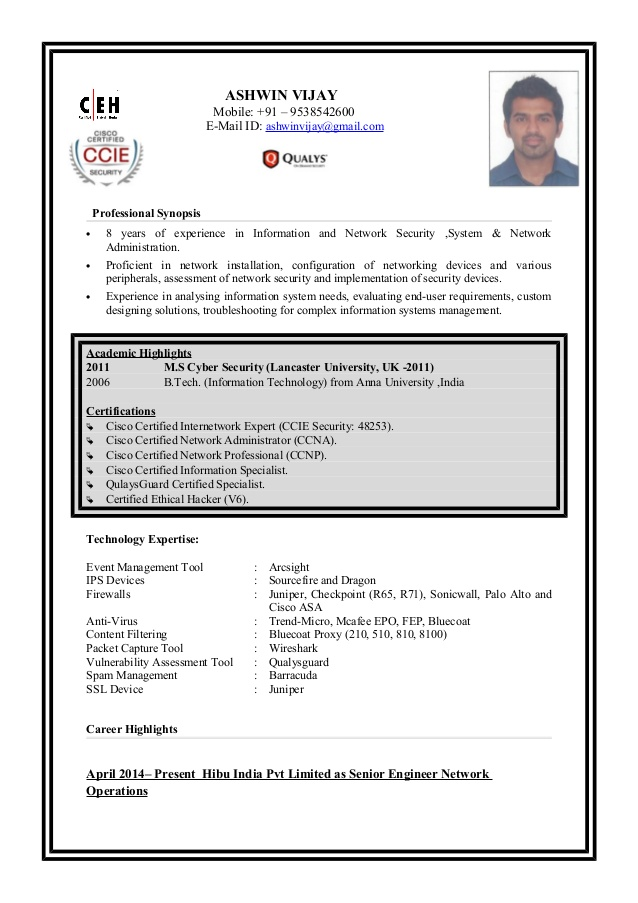ashwin resume ceh certification for associate degree simple computer teacher personal Resume Ceh Certification Resume