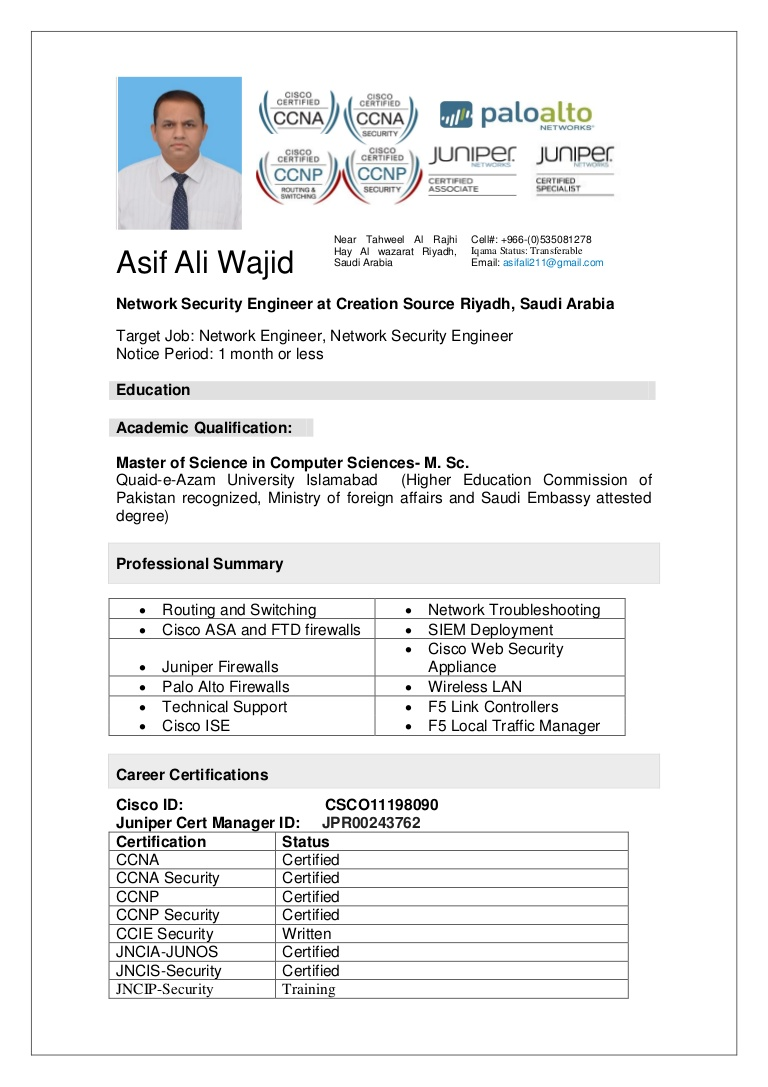asif ali resume cisco ise engineer asifaliresume thumbnail healthcare template tutorial Resume Cisco Ise Engineer Resume