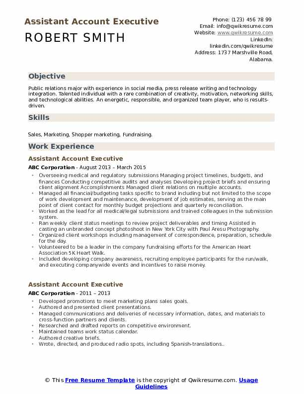 assistant account executive resume samples qwikresume radio pdf korean template basic Resume Radio Account Executive Resume