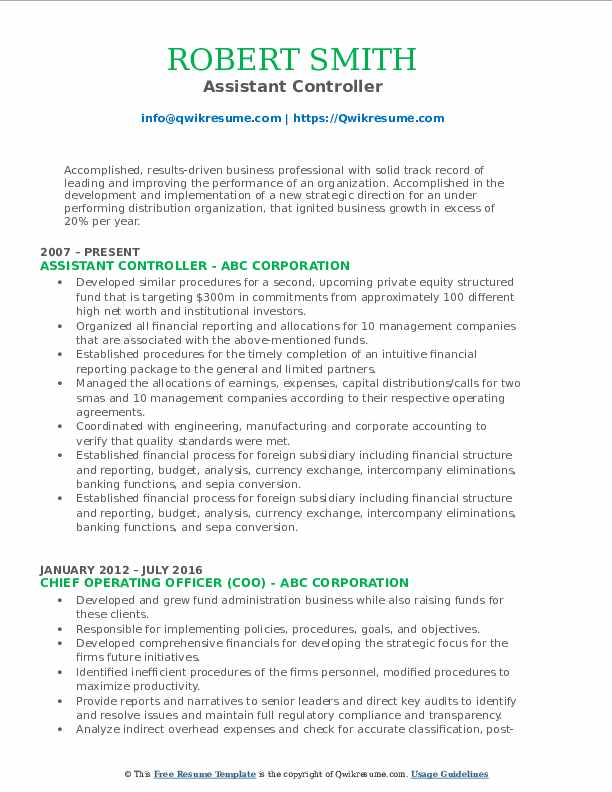 assistant controller resume samples qwikresume pdf oracle access manager room attendant Resume Assistant Controller Resume