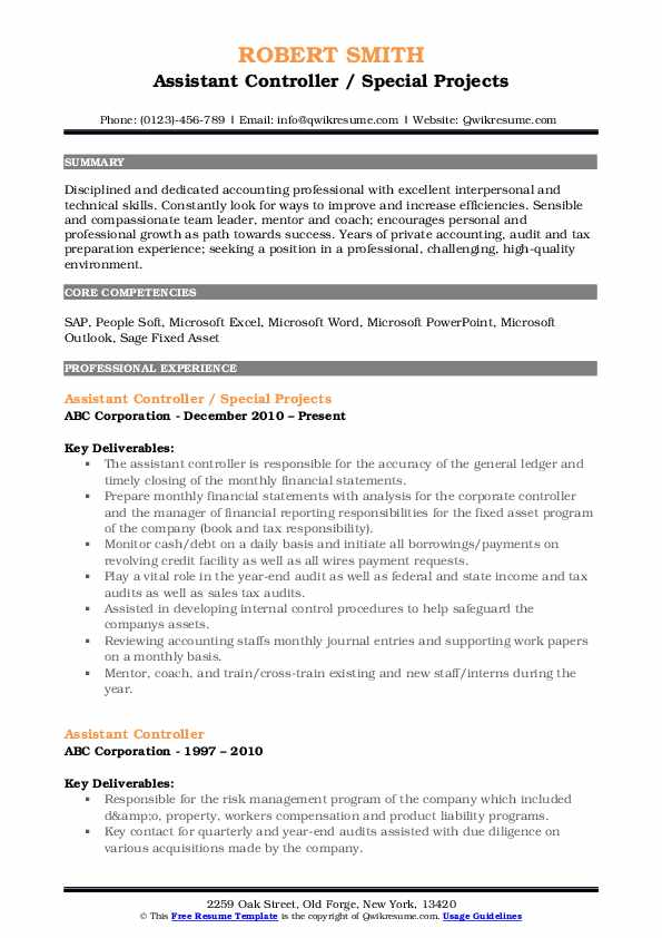 assistant controller resume samples qwikresume pdf peace corps updated give your facelift Resume Assistant Controller Resume