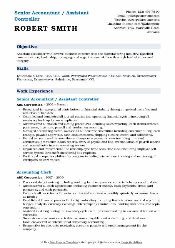 assistant controller resume samples qwikresume pdf room attendant sample general summary Resume Assistant Controller Resume