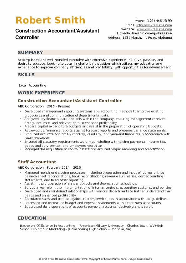 assistant controller resume example top samples give your facelift peace corps updated Resume Assistant Controller Resume