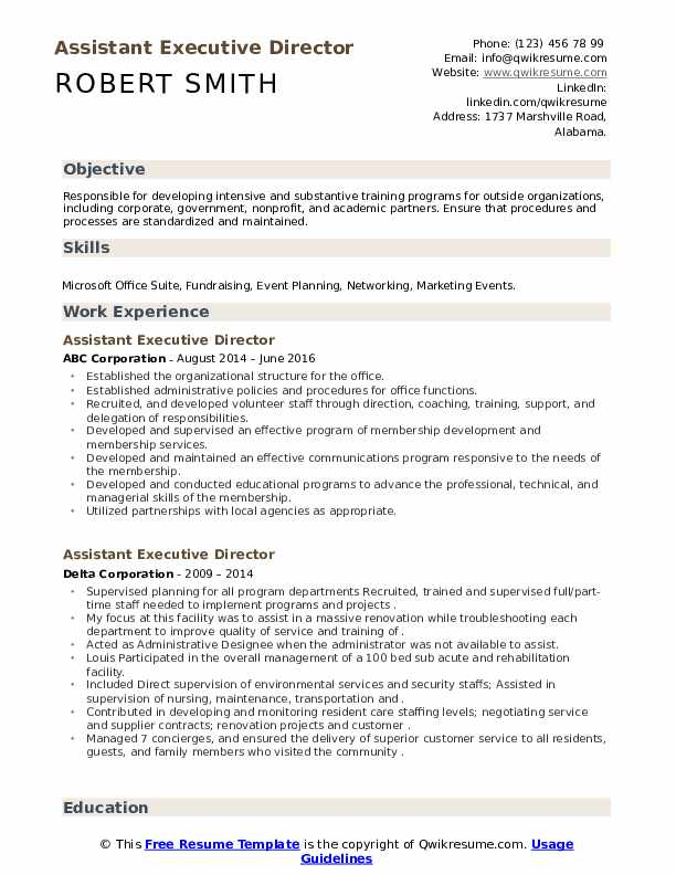 assistant executive director resume samples qwikresume nonprofit pdf high school student Resume Nonprofit Executive Director Resume