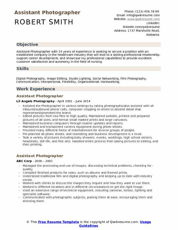 assistant photographer resume samples qwikresume pdf cara email core qualifications Resume Photographer Assistant Resume