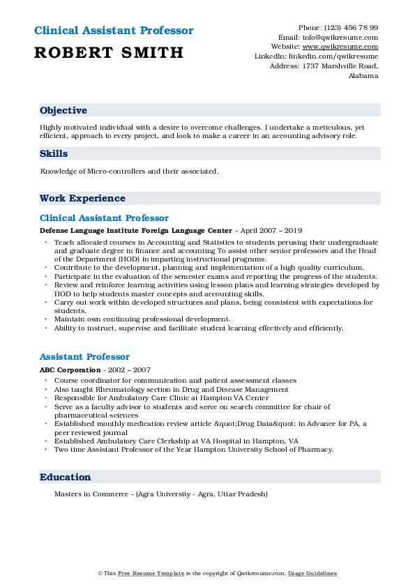 assistant professor resume samples qwikresume template pdf mulesoft developer sample Resume Professor Resume Template
