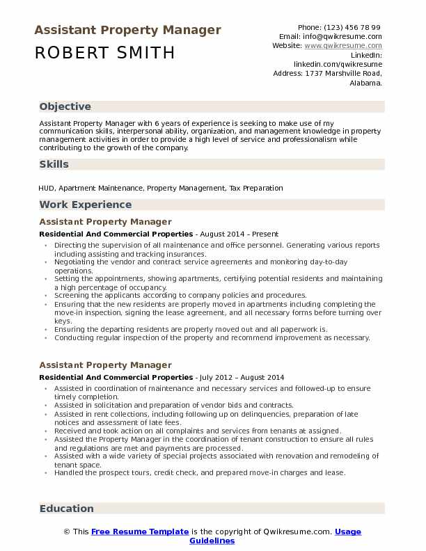 assistant property manager resume samples qwikresume entry level management pdf computer Resume Entry Level Property Management Resume