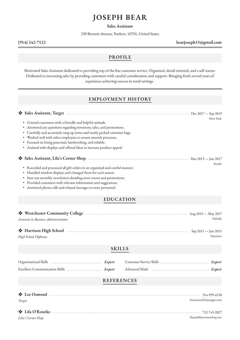 assistant resume examples writing tips free guide io with promotion example demo images Resume Resume With Promotion Example