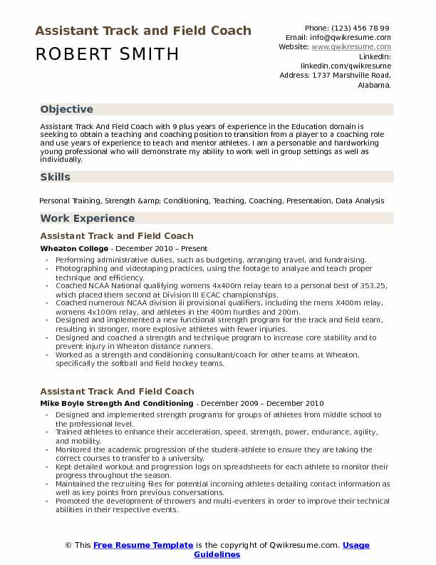 assistant track and field coach resume samples qwikresume junior hockey template pdf Resume Junior Hockey Resume Template