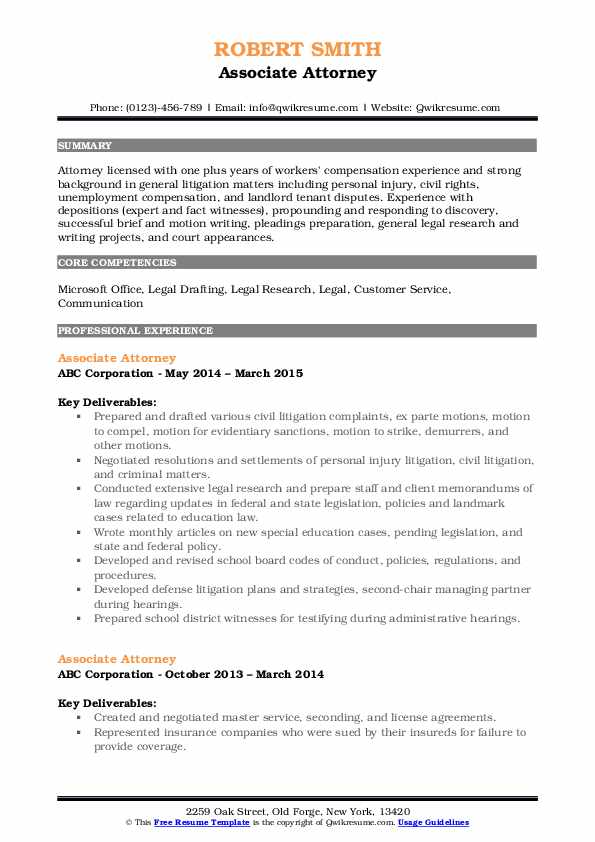 associate attorney resume samples qwikresume experienced pdf employee relations computer Resume Experienced Attorney Resume Samples