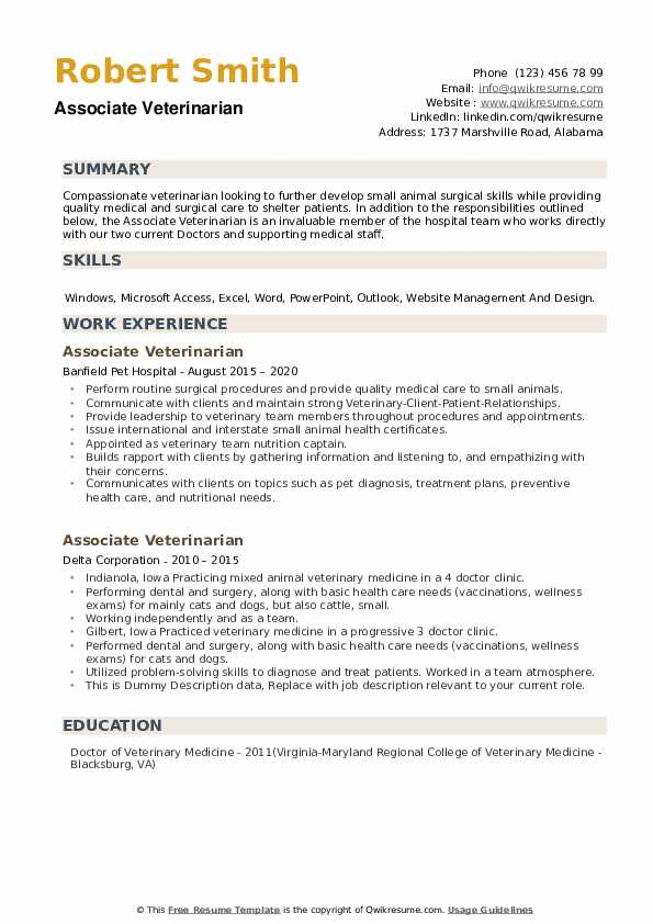 associate veterinarian resume samples qwikresume skills and abilities pdf gym manager Resume Veterinarian Resume Skills And Abilities