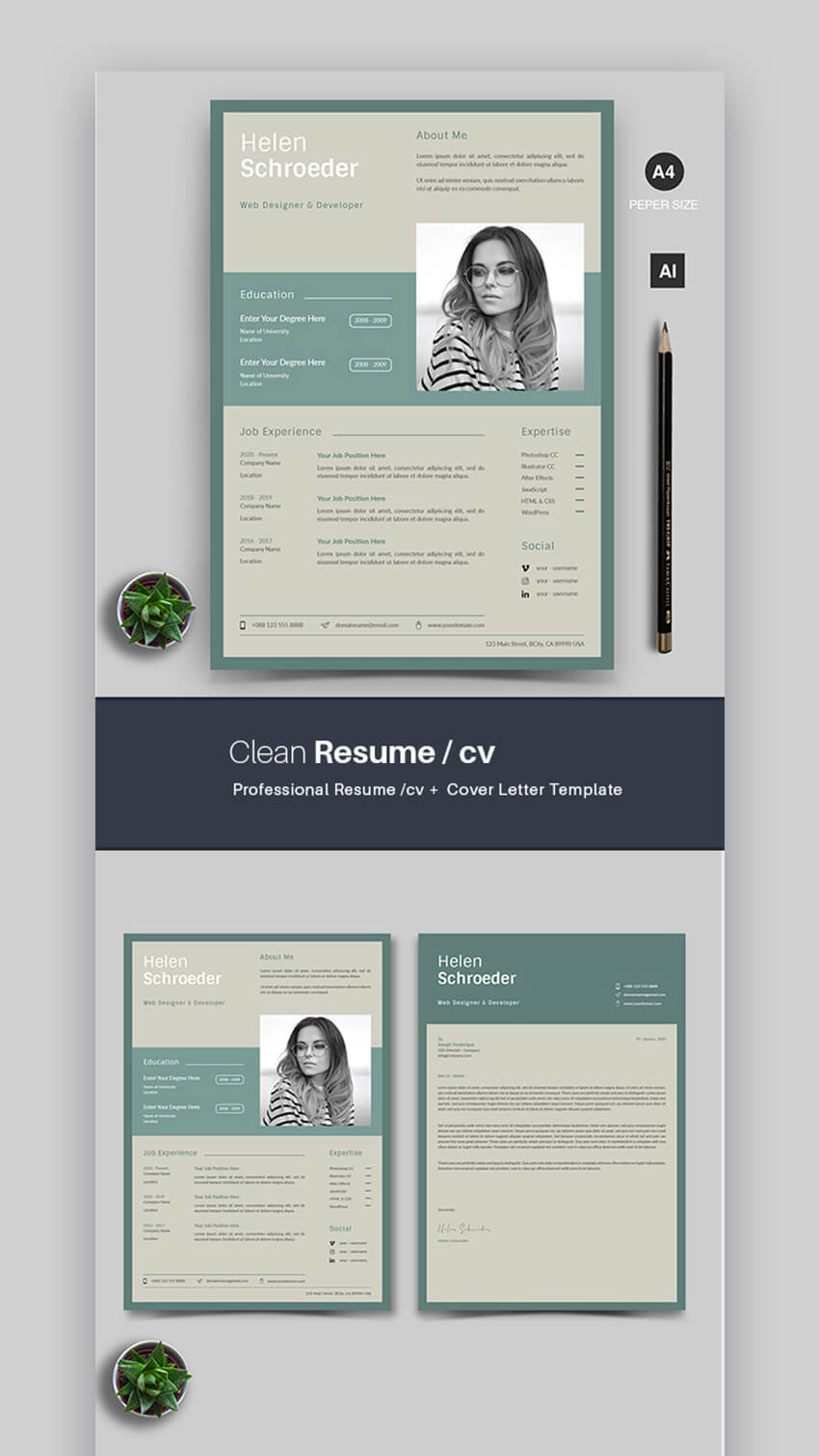attractive eye catching resume cv templates with stylish aesthetics visually cool colors Resume Visually Attractive Resume