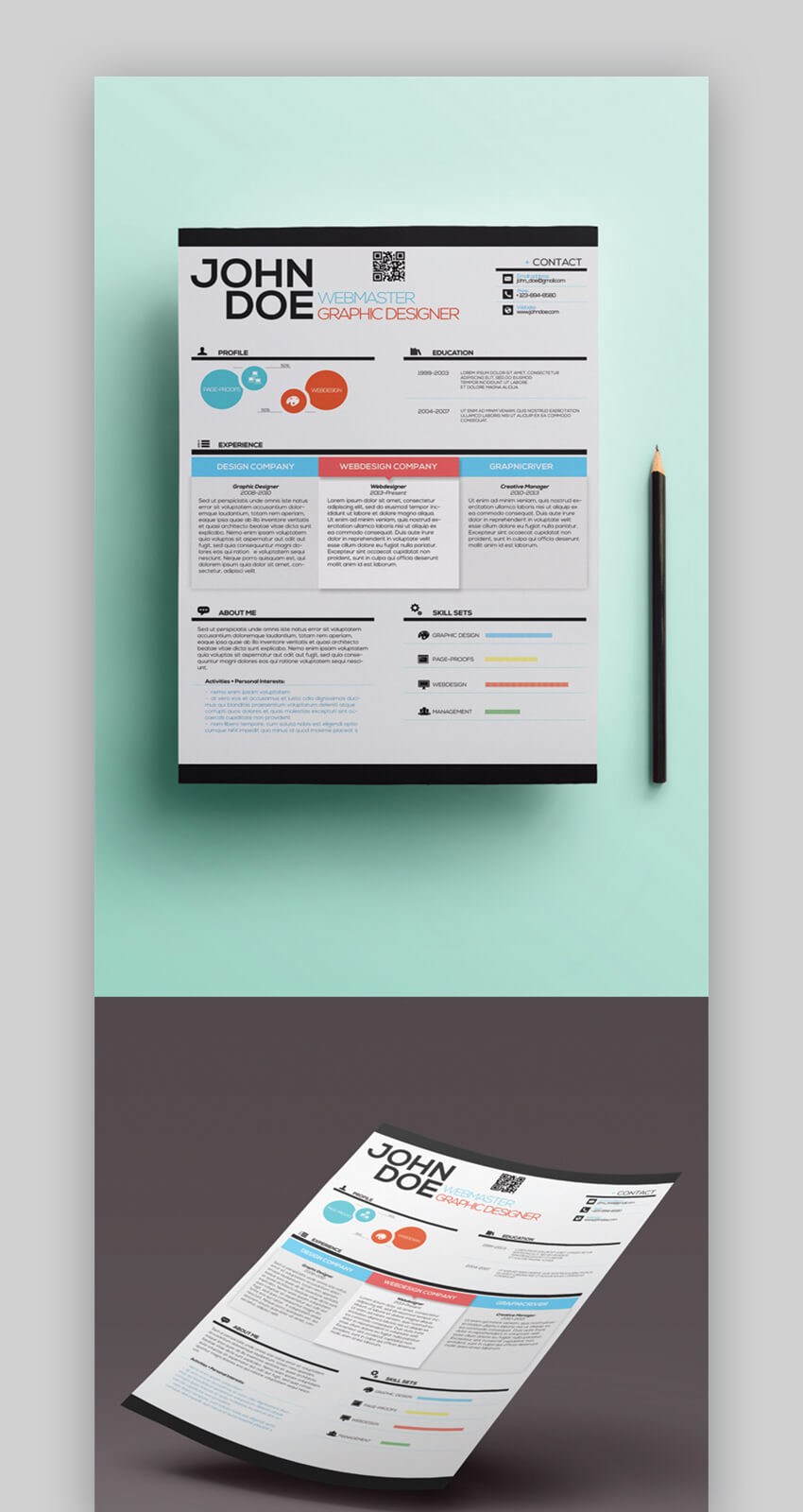 attractive eye catching resume cv templates with stylish aesthetics visually webmaster Resume Visually Attractive Resume
