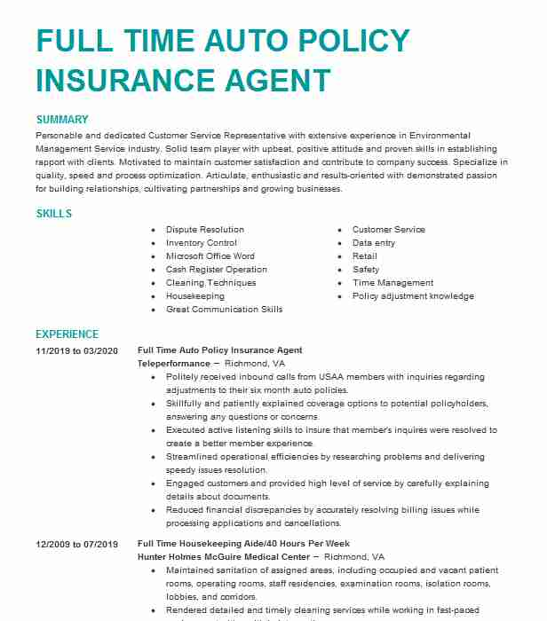 auto insurance agent resume example amtex college soccer coach tips on writing interior Resume Auto Insurance Agent Resume