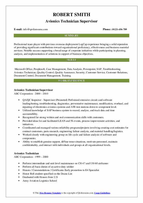 avionics technician resume samples qwikresume examples pdf making on word expertise vs Resume Avionics Resume Examples