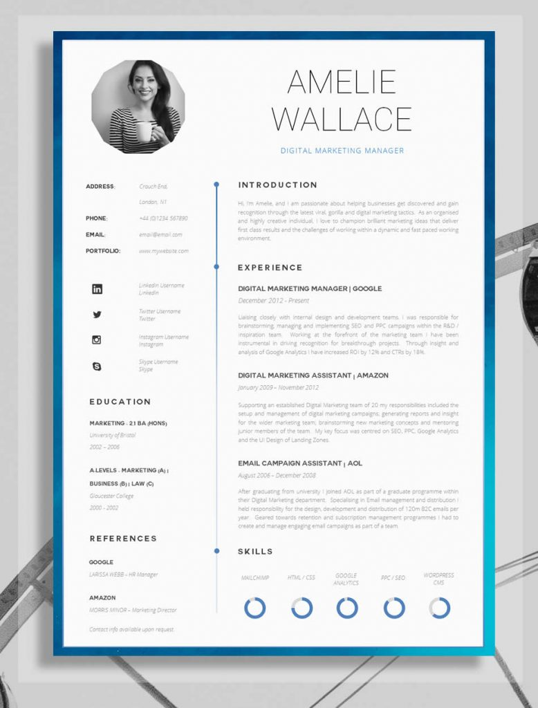 awesome examples of creative cvs resumes guru well designed resume professional 778x1024 Resume Well Designed Resume Examples
