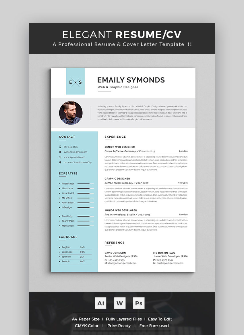 awesome resume cv templates with beautiful layout designs visually attractive Resume Visually Attractive Resume