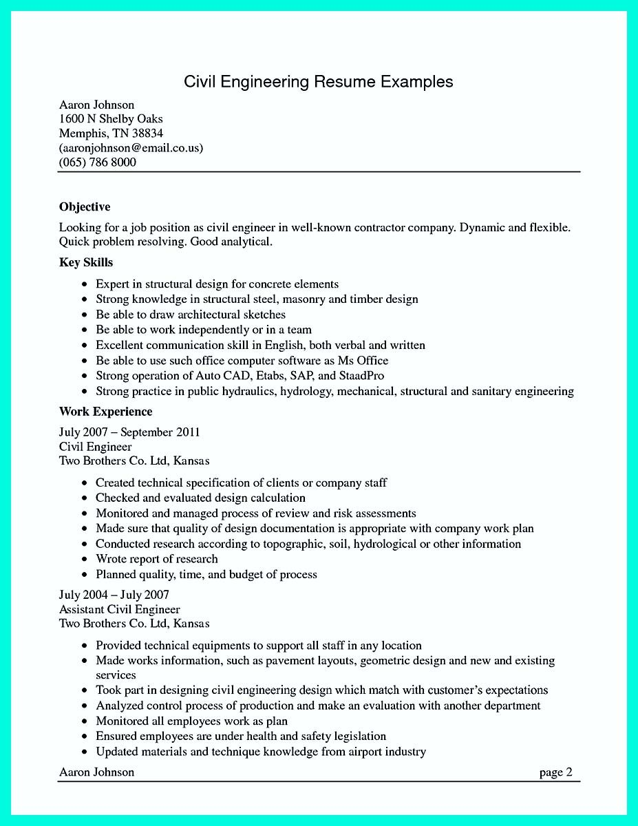 awesome the perfect computer engineering resume sample to get job soon examples civil Resume Computer Resume Objective