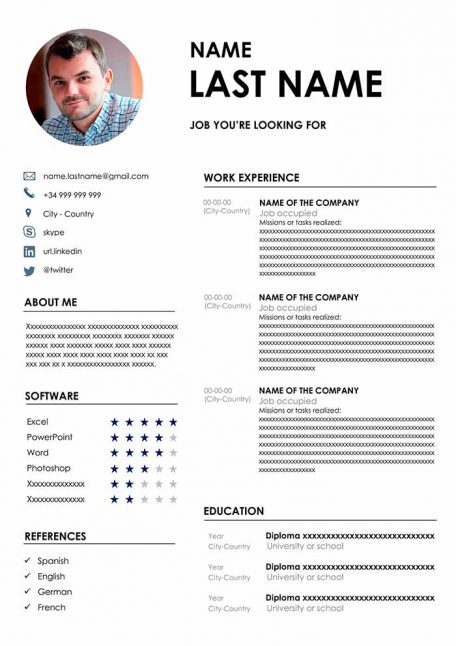 basic resume template to for free in word format latest professional best cv 456x646 Resume Latest Professional Resume Format Free Download