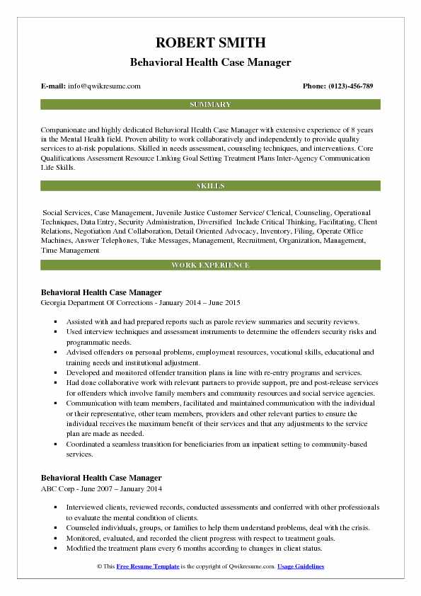 behavioral health case manager resume samples qwikresume correctional pdf angular simple Resume Correctional Case Manager Resume