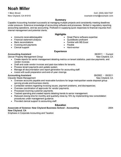 best accounting assistant resume example livecareer responsibilities finance space saver Resume Accounting Assistant Responsibilities Resume