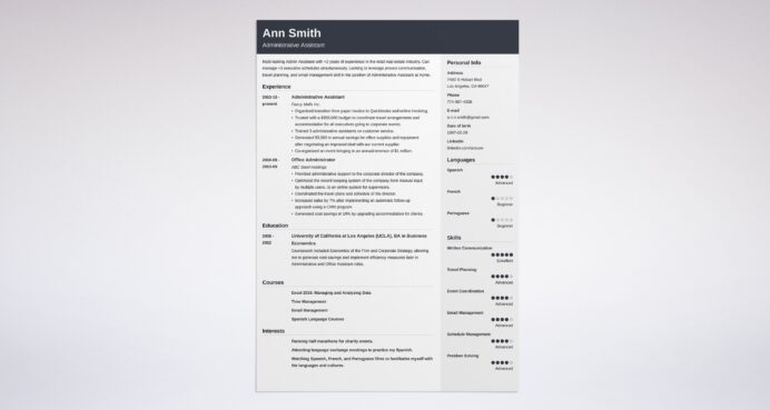 best administrative assistant resume examples example compliance officer template latex Resume Administrative Assistant Resume Examples 2020