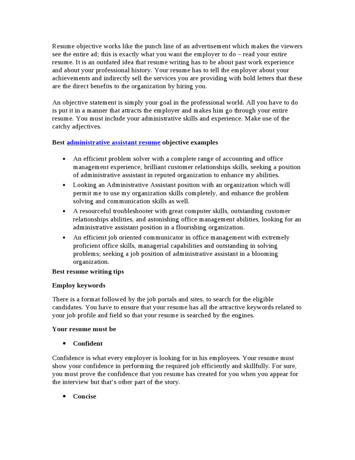 best administrative assistant resume objective by chris klinton issuu for an customer Resume Resume Objective For An Administrative Assistant
