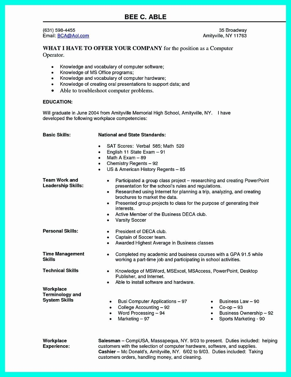 best computer science resume new the puter sample collection skills section examples Resume Office And Computer Skills For Resume