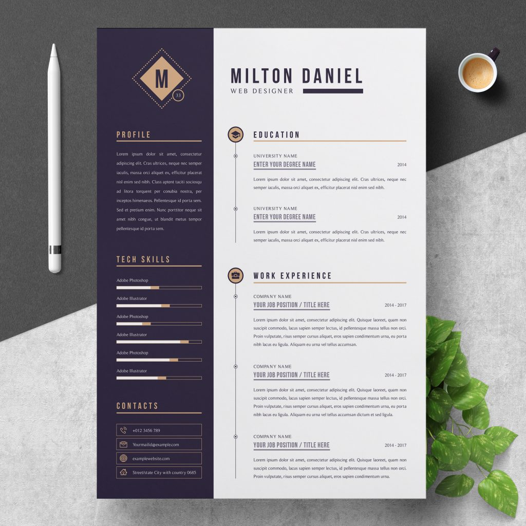 best contemporary new styles resume cv for free template clean professional creative and Resume Free Template Resume 2020