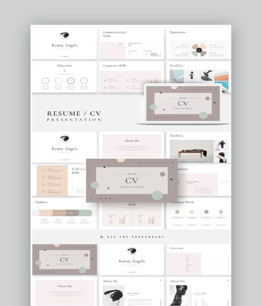 best creative powerpoint cv resume templates using presentation template chemical Resume Resume Using Powerpoint