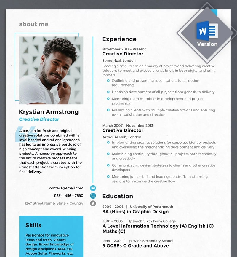 best creative resume cv templates printable modern template examples director infographic Resume Modern Resume Template Examples