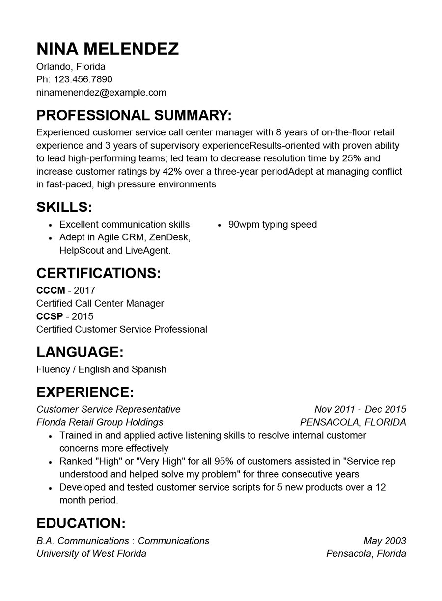 best customer service resume templates with examples functional military veteran lumber Resume Customer Service Functional Resume