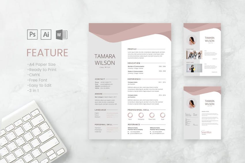 best free microsoft word resume cv cover letter templates professional and template Resume Professional Resume And Cover Letter Template