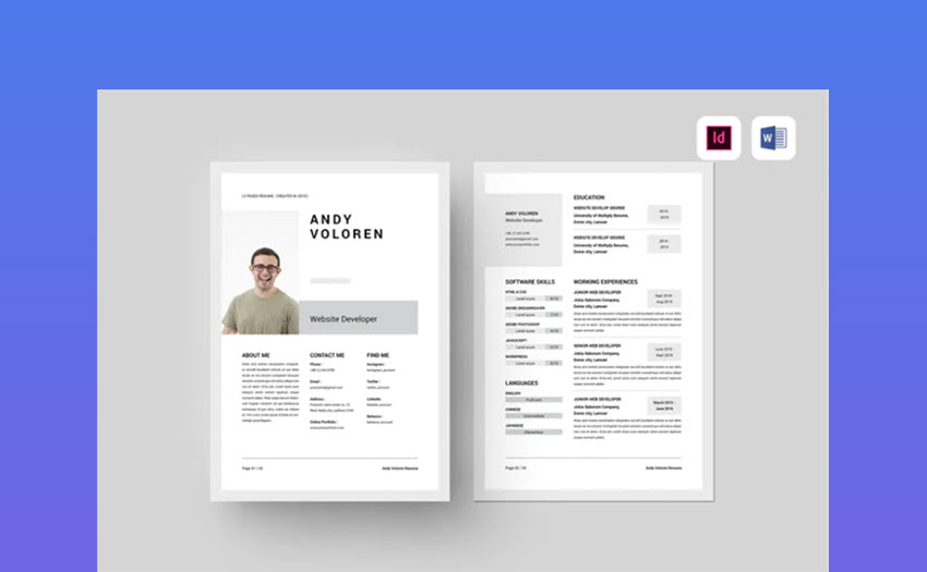 best free ms word resume cv templates for mac microsoft one template software test lead Resume Microsoft Word One Page Resume Template
