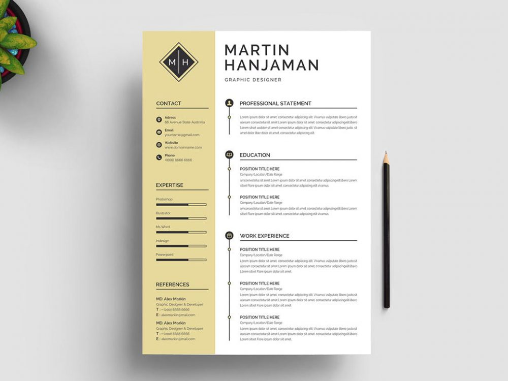 best free ms word resume templates webthemez template 1000x750 short and engaging pitch Resume Resume Template Download 2020