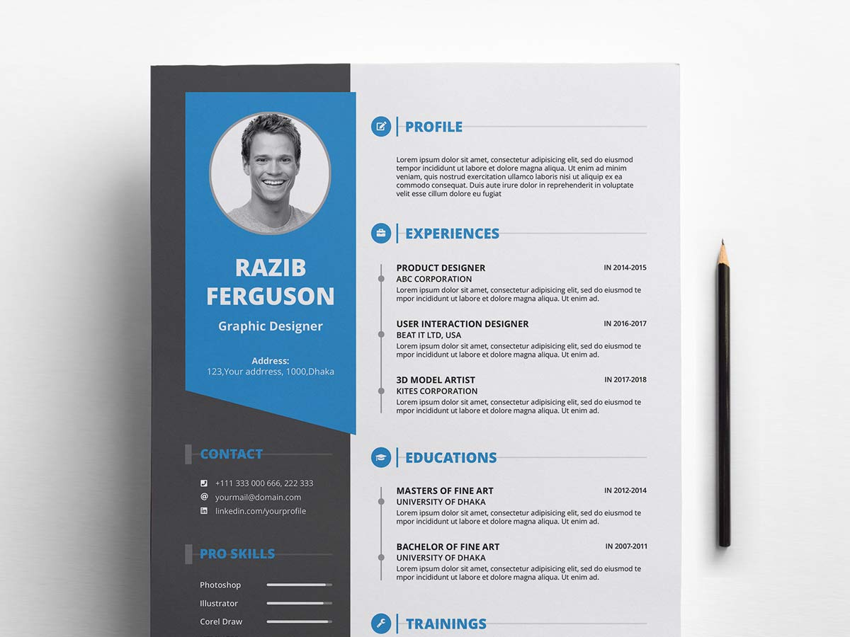 best free ms word resume templates webthemez template cover letter objective of software Resume Resume Templates 2020 Free