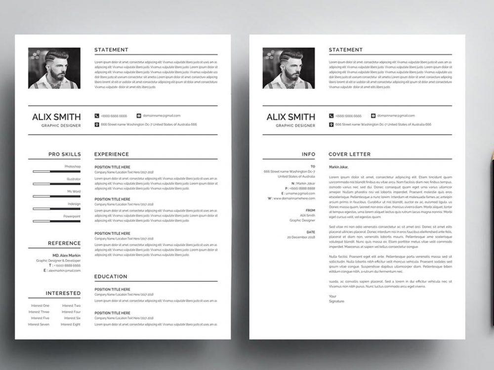 best free ms word resume templates webthemez template simple 1000x750 government contract Resume Resume Template Word 2020 Free Download