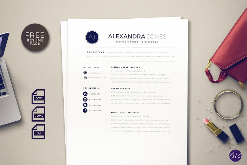 best indesign resume templates free pro cv downloads template clean styled pack sample Resume Resume Indesign Template Free Download