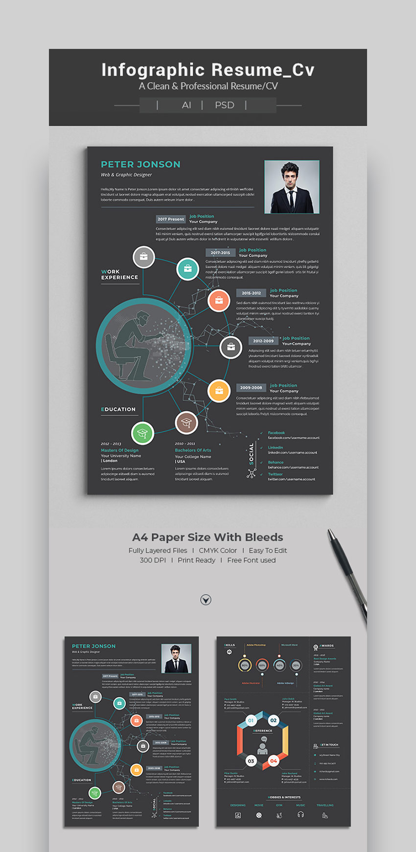 best infographic resume cv templates creative examples for sample housekeeping position Resume Creative Infographic Resume