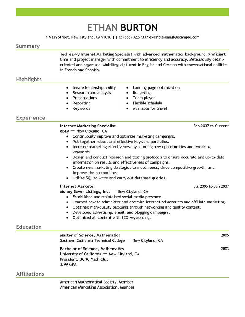 best marketer and social media resume example from professional writing service sample Resume Social Media Resume Sample