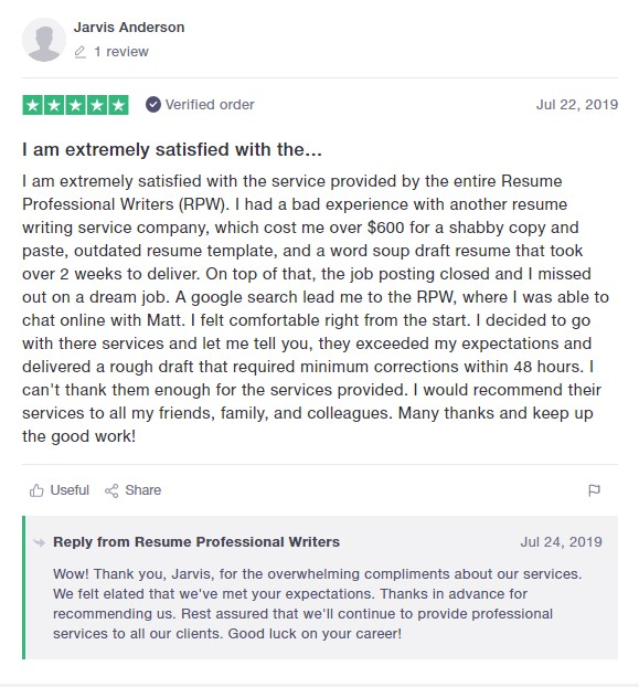 best medical resume writing services writers the professional review from trustpilot Resume The Resume Professional Writers