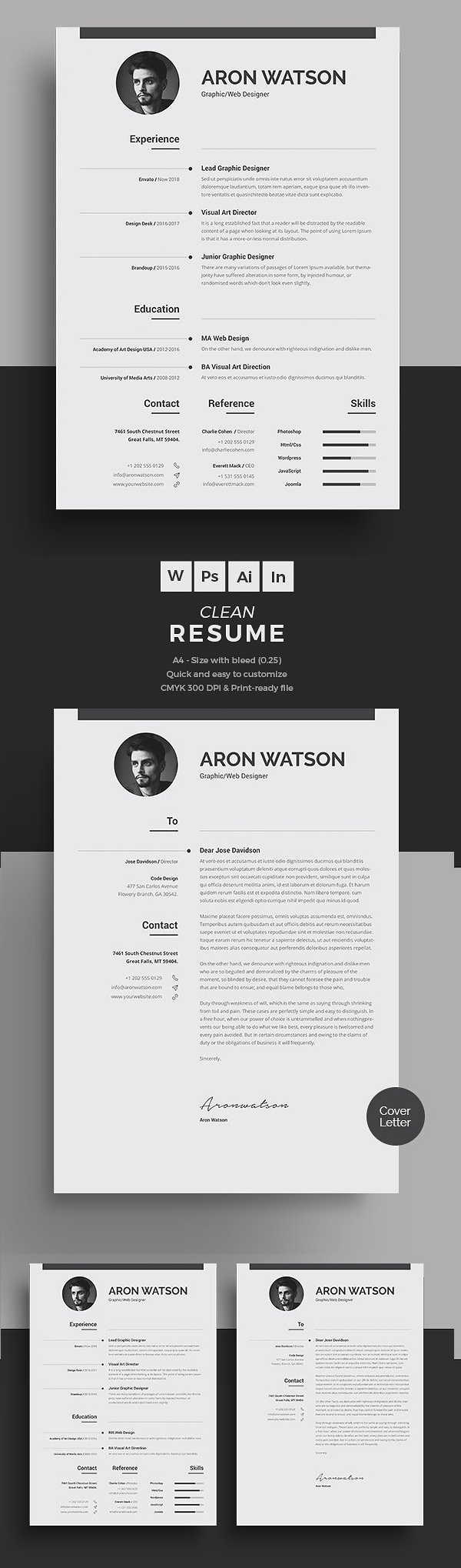 best minimal resume templates design graphic junctiongraphic junction minimalist word Resume Minimalist Word Resume Template