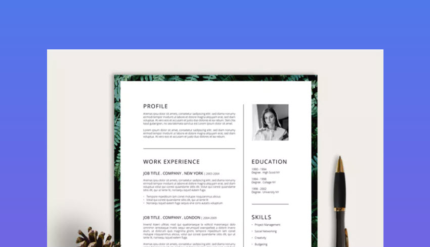 best photoshop resume cv templates photo formats template fire marshal relationship Resume Photoshop Resume Template