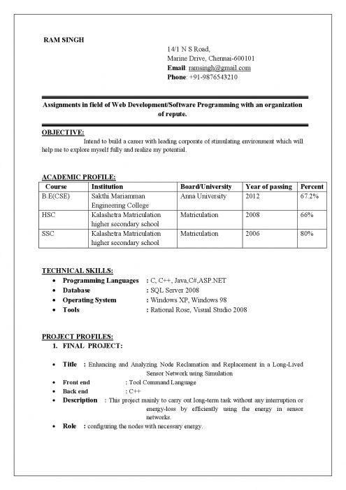 best resume format examples for freshers btech cse student fresher infographic high Resume Resume For Btech Cse Student Fresher