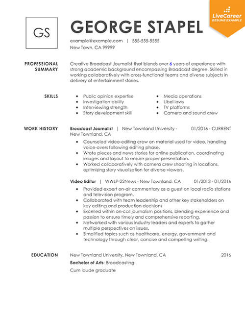 best resume formats of livecareer experienced candidate template combinational thumb Resume Experienced Candidate Resume Template