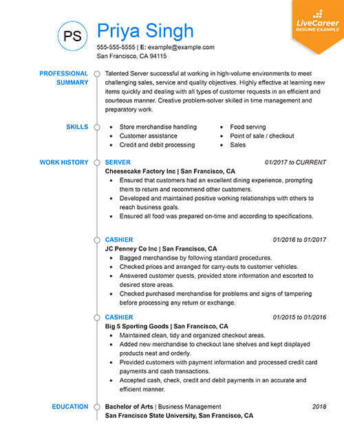best resume formats of livecareer latest format for experienced chronological tumb mina Resume Latest Resume Format For Experienced